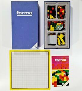 ©1973 Ravensburger Casino Serie FORMA dt. Puzzle/Tetris/Pentomino/Käsekästchen