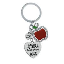 Apply Love Heart Pendant Keyring Keychain Gifts For Teacher Charm Jewellery New