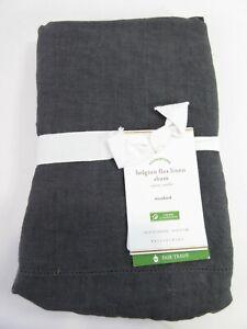 1 Pottery Barn Belgian Flax Linen Standard Pillow One Sham Ebony 26X20 NWT $65