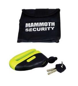 Yellow black Anti theft Motorcycle Motorbike Bike Disc Lock Key Security