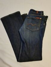 Seven 7 For All Man Kind Jeans Size 27 Boot Cut Denim  Made in USA (31x33)