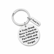 Boss Appreciation Gift Birthday Keychain for Supervisor Leader Thank You Gift.