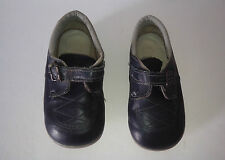 Clarks 'The First Shoe'   Dark Blue Leather Upper Shoes Size:6 G  Vintage 1980s