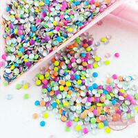 500 pcs Mix neon colors Round shape nail studs 3D Design Manicure 2mm x 2mm