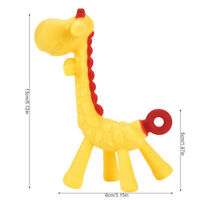 Silicone Giraffe Shape Baby Teething Chew Toys Infant Teether High Temperature