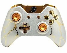 """Gold Thunder"" Xbox One Rapid Fire Modded Controller, COD IW BO3, Destiny..."