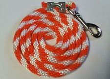 Nylon Poly Mini Horse Pony goat sheep dog Lead Rope Usa Made orange candy can