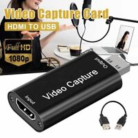 HDMI Video Capture Usb 2.0 HD 1080P Live Streaming Game Recorder