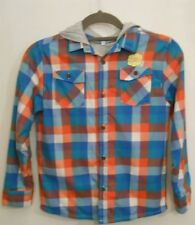 Boys M&S Lined Hooded Long Sleeved Shirt Age 9-10 Years