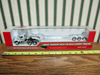 New Holland Mack Granite Truck With Lowboy Trailer By First Gear 1/64th Scale