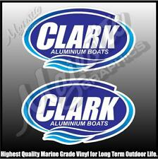 CLARK - ALUMINIUM BOATS - 300mm X 175mm X 2 - BOAT DECALS