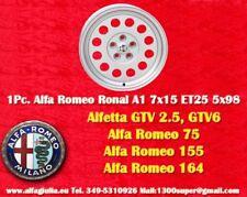1 Cerchio Alfa Romeo Ronal A1 7x15 5x98 Alfetta GTV 75 155 164 Felge wheel TUV