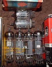 NOS NIB 6 PIECES QUAD 6GW8 / /ECL86 PAIR 12AU7 TELEFUNKEN GERMANY & HOLLAND TUBE