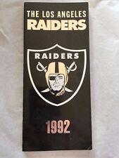 1992 Oakland LA Raiders Media Guide Napoleon McCallum Tim Brown