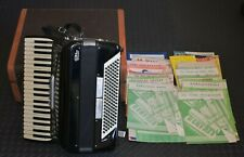 """""""Video"""" Italian Accordion works great with lots of old sheet music 1950's"""