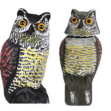 Scare Owl with Rotating Head Large Realistic Possum Rodent Bird Pest Deterrent