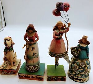 LOT of Jim Shore Figures on Display stand  Mixed figurines