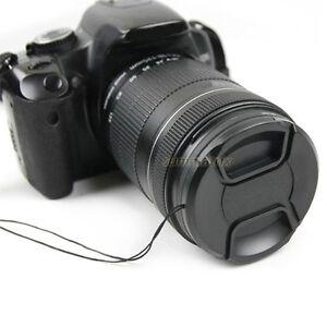 49/55/67/77mm Center Pinch Lens Cap Cover f Canon Nikon Sony Tamron DSLR Camera