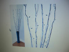 Lloytron 0.9M Brown Branch Lights With 50 Rice Bulb & Snow Effect - Blue