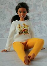 №074 Clothes for Curvy Barbie Doll. Blouse and Leggings for Dolls.