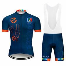 2021 Men's Cycling Jersey Ropa Bib Shorts Set Bike Shirt Maillots Pants Kits Pad