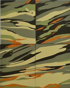 Giles Alexander (b1975) Britain Oil   Painting Original  2001 Camouflage