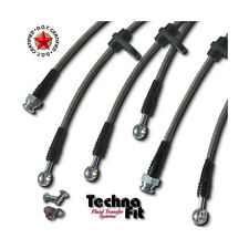 FRONT REAR Techna-Fit Stainless Steel Braided Brake Lines Set AC-920 Fits Legend