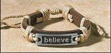 Believe Leather Bracelet NEW SKU PC472