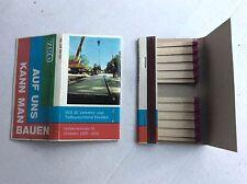 23276 Streichholzschachtel Briefchen VEB Verkehrs- und Tiefbaukombinat Dresden
