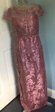 Adrianna Papell Pink Lace Gown Size 8