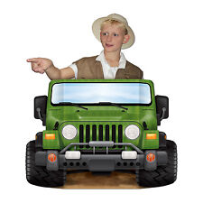 Jungle Safari Jeep Photo Prop 94cm - Animal Adventure Explorer Party Decorations