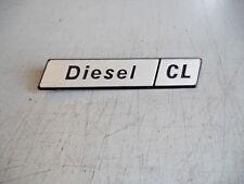 FIAT DIESEL CL  scritta modello targhetta  PLASTICA