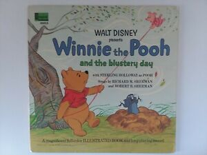 Walt Disney Presents Winnie The Pooh and the Blustery Day (LP, 1967) & Storybook