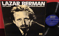 LAZAR BERMAN LIszt: Sonata Beethoven: Appasionata 1976 SAGE UK Press NM- Vinyl