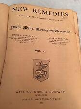1882 DRUGGIST'S New Remedies Pharmacy Book
