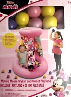 Disney Minnie Mouse Inflatable Playland Ball Pit Portable Toddler With 20 Balls