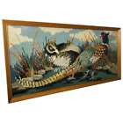 Fine Original Artwork Tapestry Pheasant Game Birds Hand Embroidered Wall Hanging