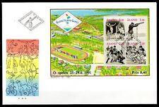 Finland / Aland - 1991 Small Island games Mi. Bl. 1 FDC