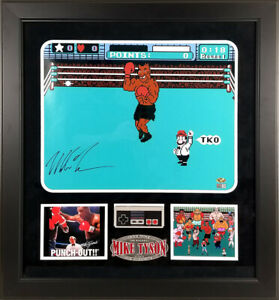 Mike Tyson Signed Autographed Nintendo Punch Out 16x20 Photo Framed TRISTAR