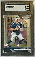 TOM BRADY 2018 PANINI PRIZM CARD #69 SGC GRADED MINT 8 NEW ENGLAND PATRIOTS NFL