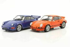 Solido Porsche 911 Carrera RSR Orange et Porsche 911 (964) Carrera RS Bleu Échelle 1:18 Pack de 2 Voitures Miniatures (S180004)