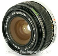Olympus OM-System G.ZUIKO Auto-W 1:3.5 f=28mm WIDE-Angle Lens + Extras! TESTED!