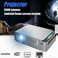 Android 6.0 4K 1080p HD Wifi LED Projector Home Theater Cinema 3D Video Movie