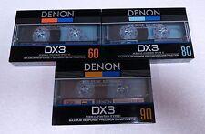 DENON DX3 60/80/90 nice cassette tapes № 681
