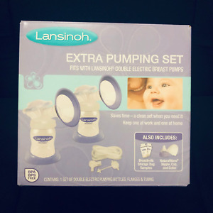 NEW! Extra Breast Pumping Set,  Fit with Lansinoh double electric Breast pumps