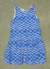 Peas and Queues Blue White Dress Size 8