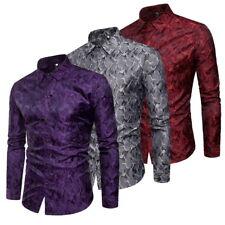 Mode Hommes chemise de luxe de chemises de club à manches longues Shirts Tops