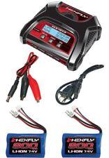 New RedCat HX-403 Dual Port AC/DC LiPo Charger & 2 Volcano 18 V2 Lipo Batteries