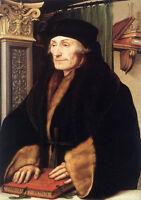 Art Oil painting Holbein Hans - Male Portrait of Erasmus of Rotterdam canvas
