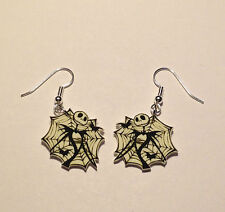 Nightmare Before Christmas Earrings Jack Web Charms